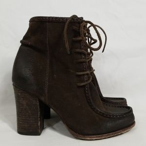 Frye Parker Moc Ankle Brown Oil Suede Boot 8.5